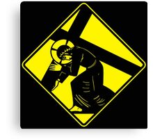 Jesus on a Crosswalk  Canvas Print