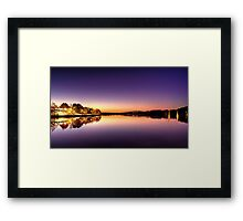 Glowing Foreshore Framed Print