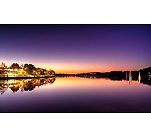 Glowing Foreshore Photographic Print
