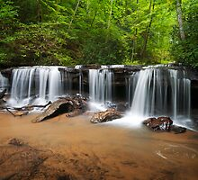 Perpetuelles - Small Waterfall Landscape by Dave Allen
