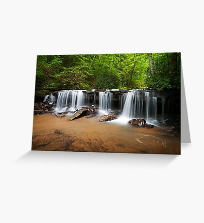 Perpetuelles - Small Waterfall Landscape Greeting Card