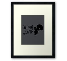 Gale Has Game Framed Print
