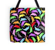 Rainbow dolphins Tote Bag
