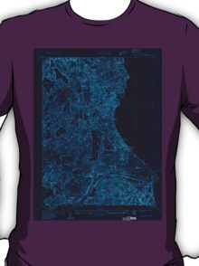Massachusetts  USGS Historical Topo Map MA Sagamore 350525 1933 24000 Inverted T-Shirt