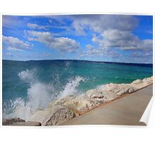 Windy Day on Lake Michigan Poster