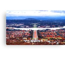 Heart Of Canberra Canvas Print