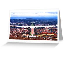 Heart Of Canberra Greeting Card