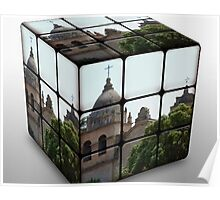 Carmel Mission Rubic's Cube Poster