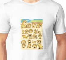 Lion's Family Cartoon Unisex T-Shirt
