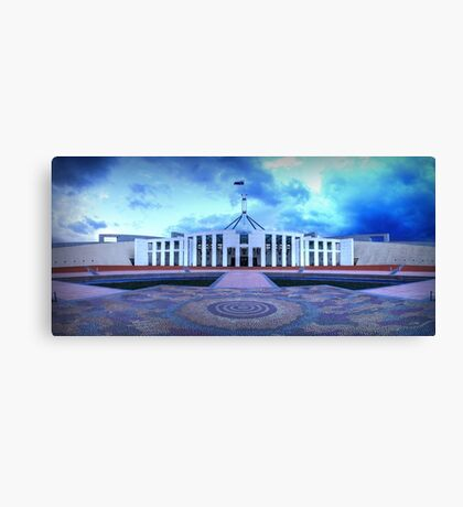 Parliament Clouds Canvas Print