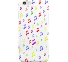 Color Music Notes iPhone Case/Skin