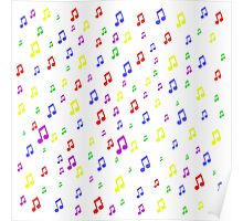 Color Music Notes Poster