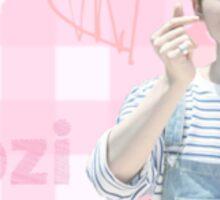 pink: Woozi Sticker