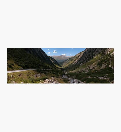 Cyclists on the Nufenen Pass Photographic Print