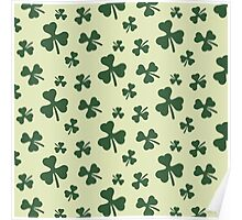 Three Leaf Clovers Poster