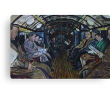 Glasgow Subway Commuters Canvas Print