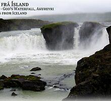 Kveðja frá Goðafoss, Akureyri, Ísland. by JoAndCoCards