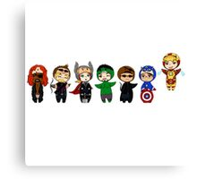 The Avengers in Halloween costumes Canvas Print