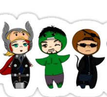 The Avengers in Halloween costumes Sticker
