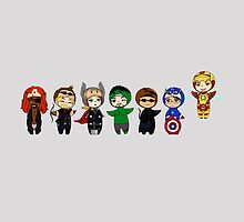 The Avengers in Halloween costumes by rainbowcho