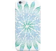 Feather Flower: Frost Burst iPhone Case/Skin