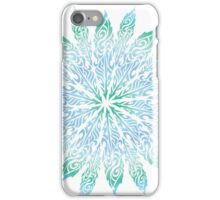 Feather Flower: Frost Burst iPhone Case/Skin