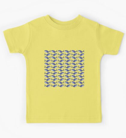 A pod of blue whales Kids Tee