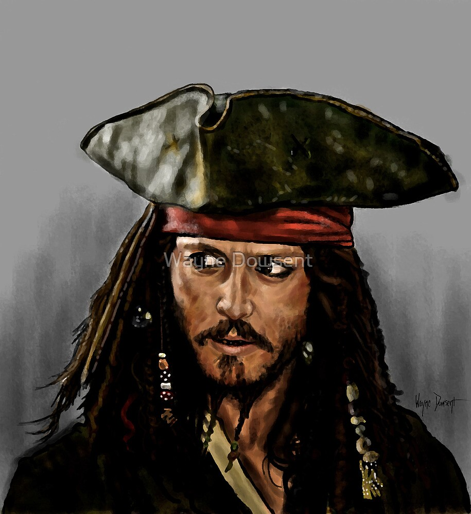 JOHNNY DEPP, PIRATES OF THE CARRIBEAN by Wayne Dowsent