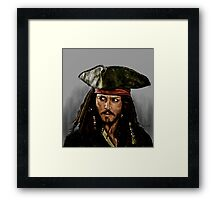 JOHNNY DEPP, PIRATES OF THE CARRIBEAN Framed Print