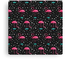 Disco Flamingo Canvas Print