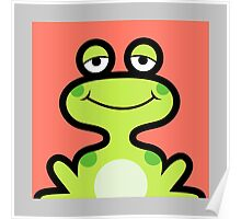 Cute frog avatar Poster