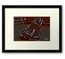 Ye Old Boots HDR Framed Print