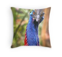 Barbara, 50 yr old Cassoway of Mission Beach QLD. Throw Pillow