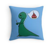 Dino birthday Throw Pillow