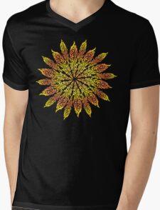 Feather Flower: Summer Snowflake Mens V-Neck T-Shirt