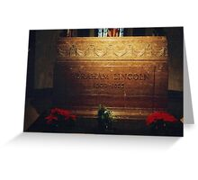 Abraham Lincoln's Tomb Greeting Card