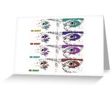 Mr Robot multi coloured eyes Greeting Card