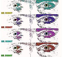 Mr Robot multi coloured eyes Photographic Print