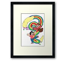 Falling Adventures Through the Universe Framed Print