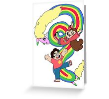Falling Adventures Through the Universe Greeting Card