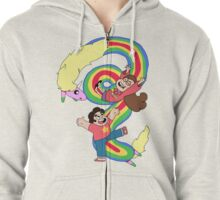Falling Adventures Through the Universe Zipped Hoodie