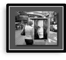 My face in New York...©  Canvas Print
