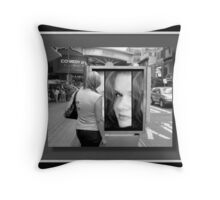 My face in New York...©  Throw Pillow