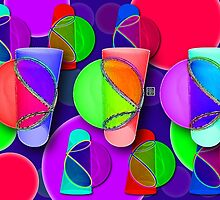 """Viviani Tumblers""© by Lisa Clark for Thinker Collection - STEM Art"