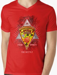 L-OUIJA'S PIZZERIA OCCULT RESTAURANT  Mens V-Neck T-Shirt