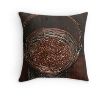 Aroma  of Coffee flavours the room  Throw Pillow