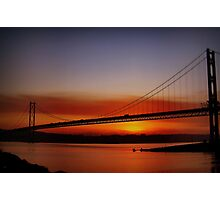 Sunset Over The Forth Road Bridge, Scotland. Photographic Print