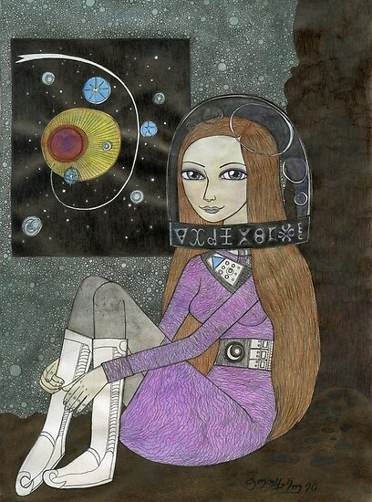 Space Helmet Girl by Bethy Williams