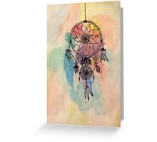 Boho Watercolor Dreamcatcher Greeting Card