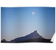 Twillight moon over Mt Warning Poster